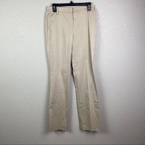 Rene Lezard 34 Tan Straight Leg Dress Pants